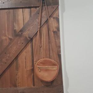 Crossbody faux leather bag